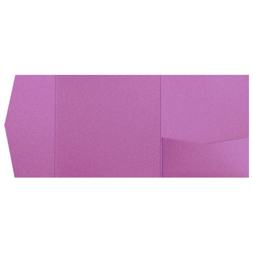 Purple Punch Metallic Pocket Invitation Card, 6 1/4 Himalaya - Paperandmore.com