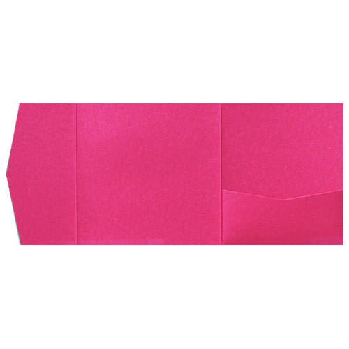 Razzle Pink Solid Pocket Invitation Card, 6 1/4 Himalaya - Paperandmore.com