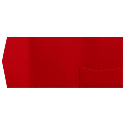 Red Pepper Linen Pocket Invitation Card, 6 1/4 Himalaya - Paperandmore.com