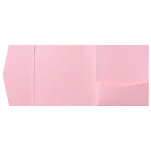 Rose Pink Metallic Pocket Invitation Card, 6 1/4 Himalaya - Paperandmore.com
