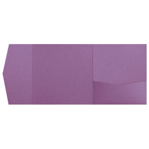 Ruby Purple Metallic Pocket Invitation Card, 6 1/4 Himalaya - Paperandmore.com
