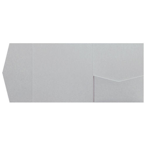 Silver Metallic Pocket Invitation Card, 6 1/4 Himalaya - Paperandmore.com