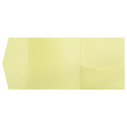 Sunrise Yellow Metallic Pocket Invitation Card, 6 1/4 Himalaya - Paperandmore.com