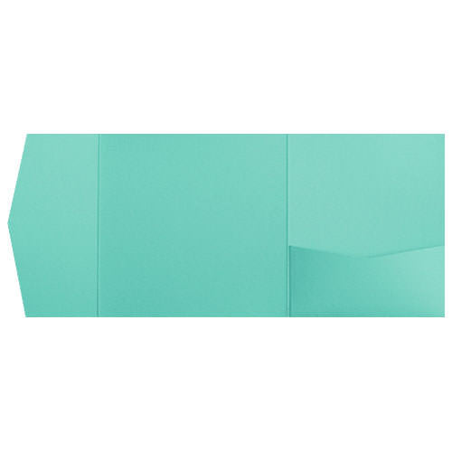 Tiffany Blue Solid Pocket Invitation Card, 6 1/4 Himalaya