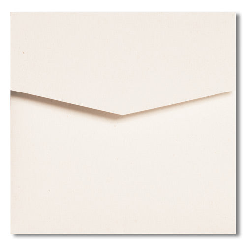 White Fiber Recycled Pocket Invitation Card, 6 1/4 Himalaya - Paperandmore.com