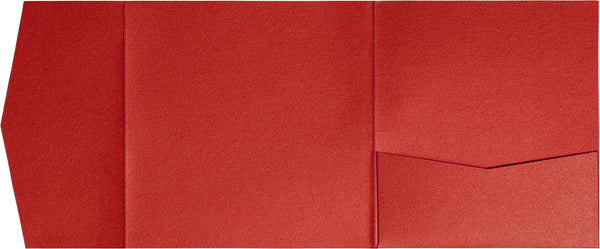 Jupiter Red Metallic Pocket Invitation Card, 6 1/4 Himalaya