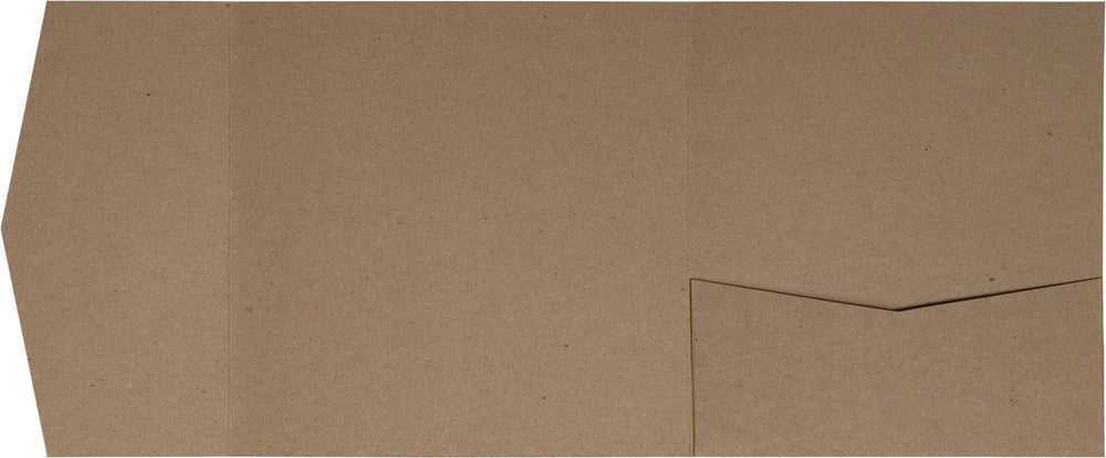 Kraft Brown 65# Recycled Pocket Invitation Card, 6 1/4 Himalaya