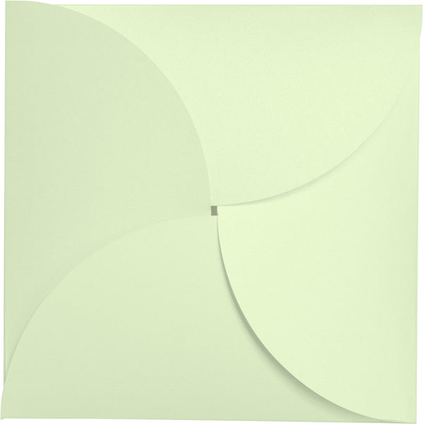 Aloe Mint Green Metallic Petal Cards 105 lb, Square 6 1/4