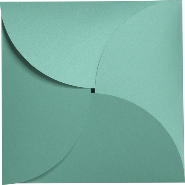 Aqua Lagoon Metallic Petal Cards 105#, Square 6 1/4