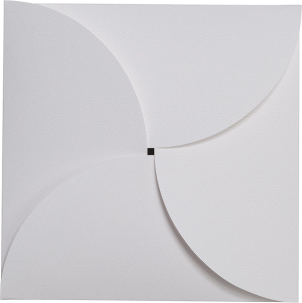 Square 6 1/4 Classic Avalanche White Felt 110 lb Petal Card Enclosure