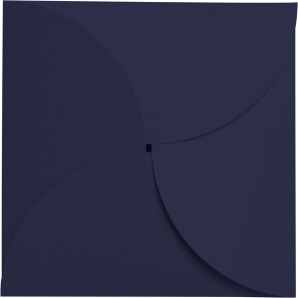 Blazer Blue Solid Petal Card 100 lb, Square 6 1/4