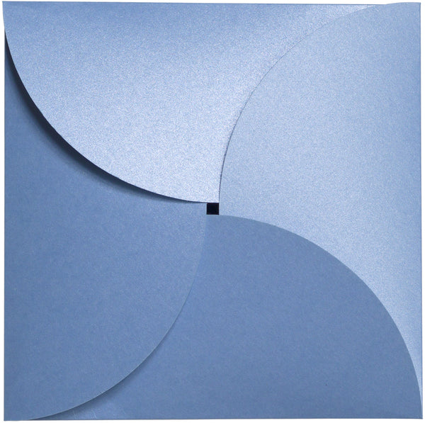 Blue Vista Metallic Petal Cards 105#, Square 6 1/4