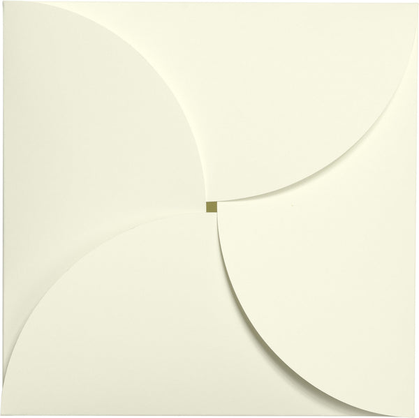 Classic Natural Cream Solid Petal Card 100 lb, Square 6 1/4