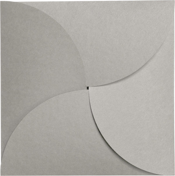 Concrete Gray Kraft 100 lb Raw Recycled Petal Card, Square 6 1/4