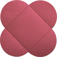 Crimson Red Metallic Petal Cards 105 lb, Square 6 1/4""