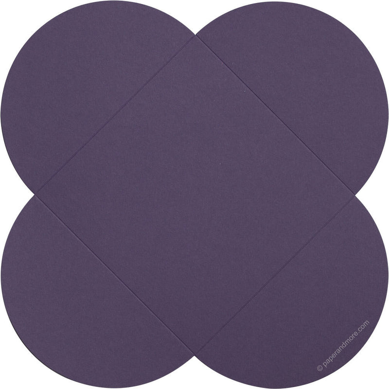 "Dark Purple Solid Petal Card 80#, Square 6 1/4"" - Paperandmore.com"