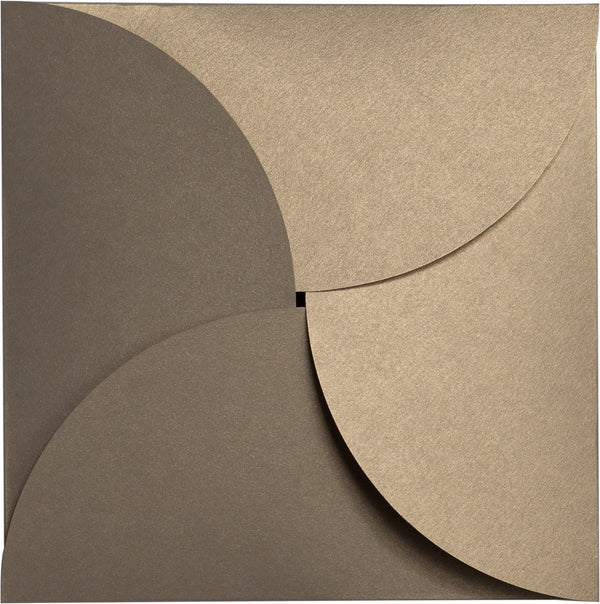 Gold Leaf Metallic Petal Cards 105 lb, Square 6 1/4
