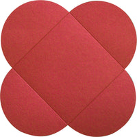 Jupiter Red Metallic Petal Cards 105 lb, Square 6 1/4""