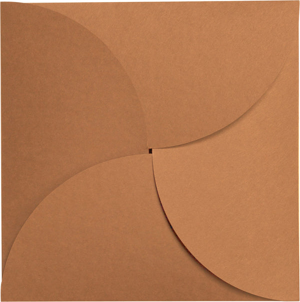 Kraft Brown 100 lb Raw Recycled Petal Card, Square 6 1/4