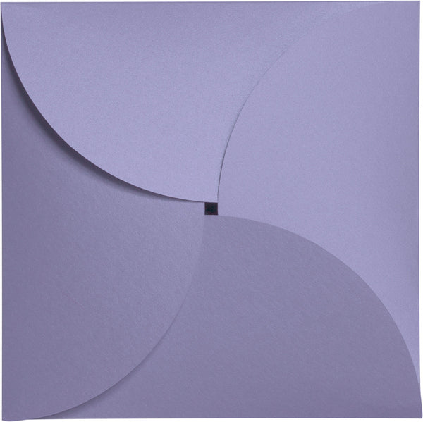 Lavender Metallic Petal Cards 105 lb, Square 6 1/4