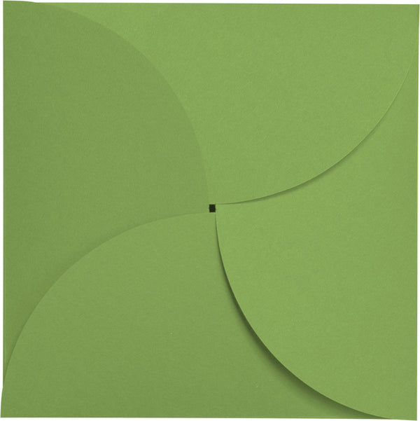 Meadow Green Solid Petal Card 100 lb, Square 6 1/4