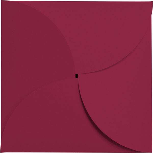 Orchid Solid Petal Card 111 lb, Square 6 1/4