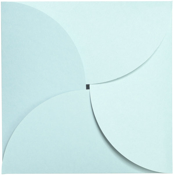 Pastel Blue Solid Petal Card 111 lb, Square 6 1/4