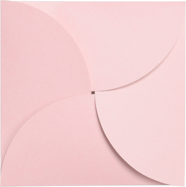 Pastel Pink Solid Petal Card 111 lb, Square 6 1/4