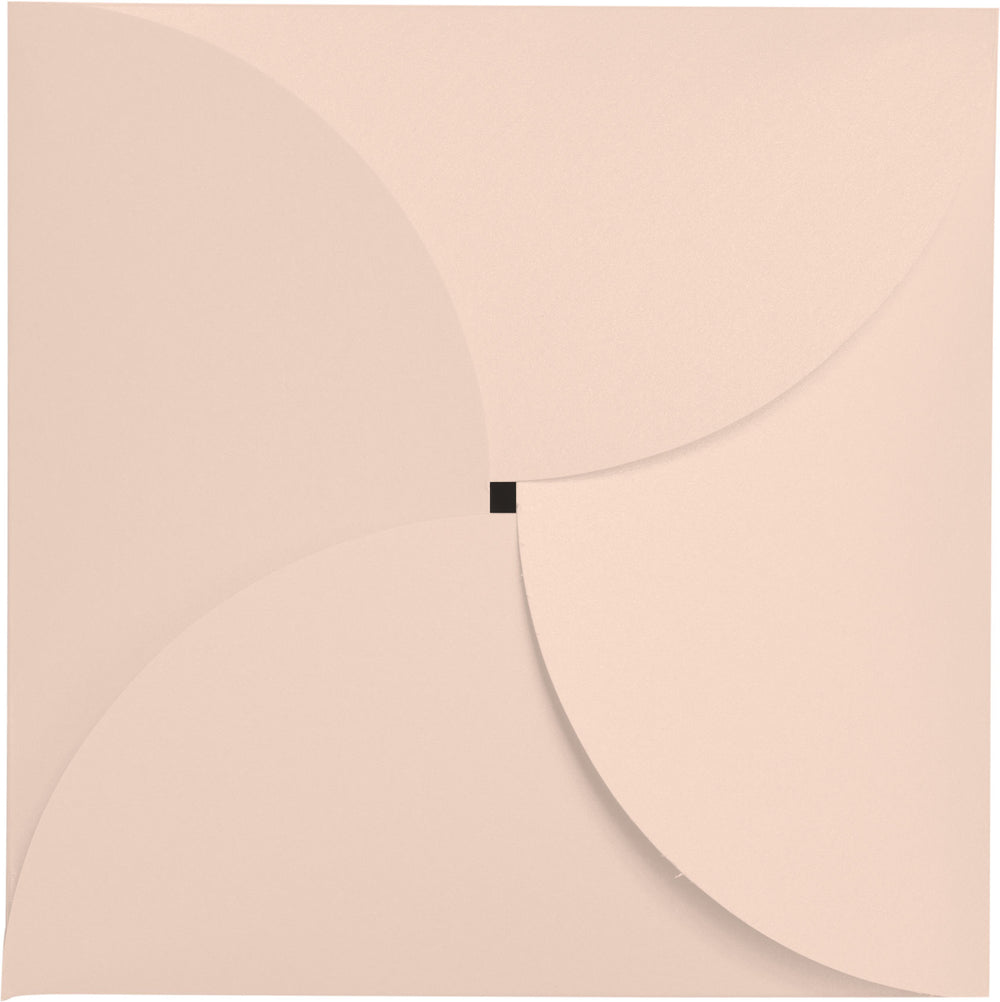 Peach (Coral) Metallic Petal Cards 105#, Square 6 1/4""