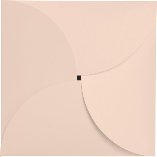 Peach (Coral) Metallic Petal Cards 105#, Square 6 1/4