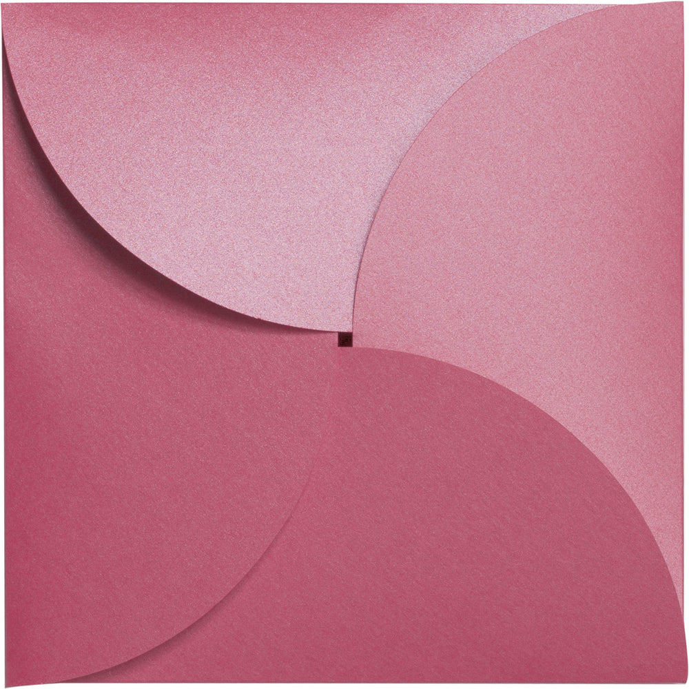 Pink Azalea Metallic Petal Cards 105#, Square 6 1/4""