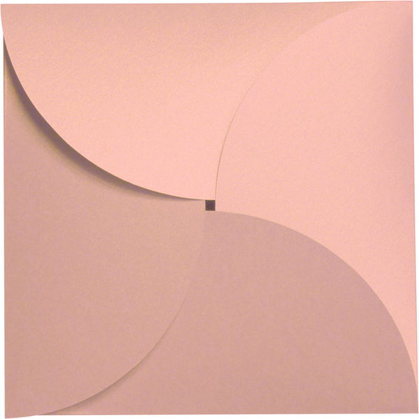 Rose Gold Metallic Petal Cards 105 lb, Square 6 1/4
