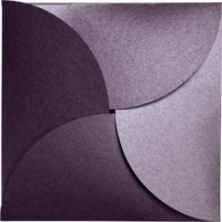 Ruby Purple 105 lb Metallic Petal Card, Square 6 1/4""