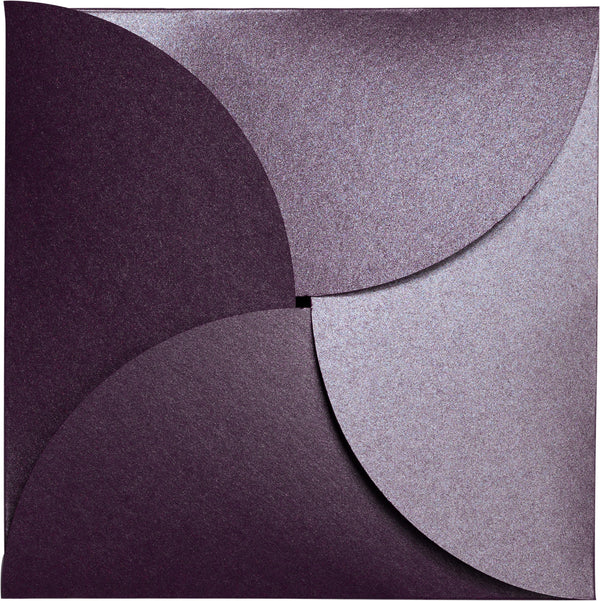 Ruby Purple 105 lb Metallic Petal Card, Square 6 1/4