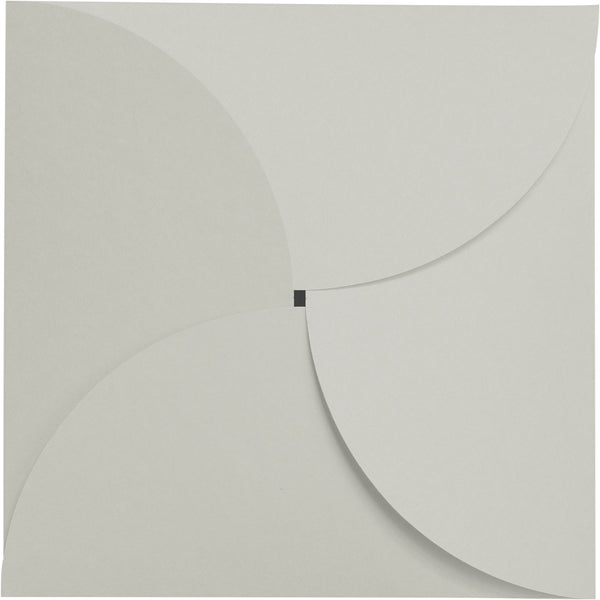 Gray Smoke Solid Petal Card 100 lb, Square 6 1/4