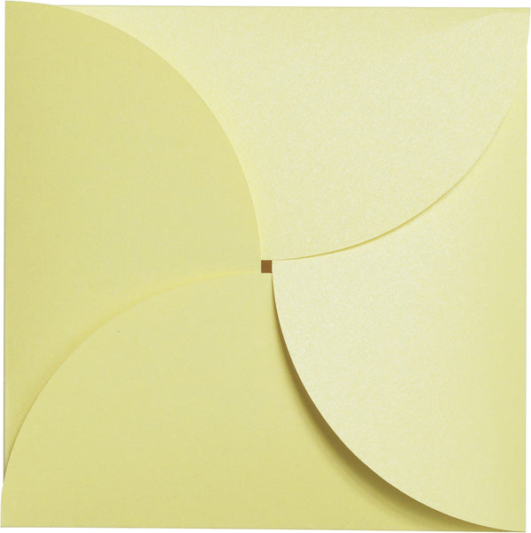Sunrise Yellow Metallic Petal Card 111#, Square 6 1/4
