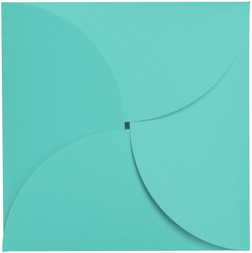 Tiffany Blue Solid Petal Card 100#, Square 6 1/4""