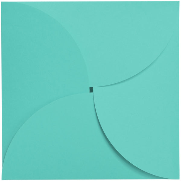 "Tiffany Blue Solid Petal Card 100#, Square 6 1/4"" - Paperandmore.com"