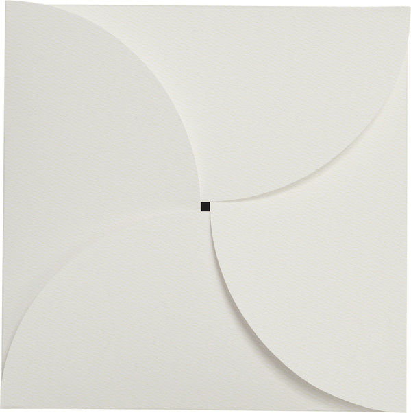 Square 6 1/4 Warm White Felt 110 lb Petal Card Enclosure