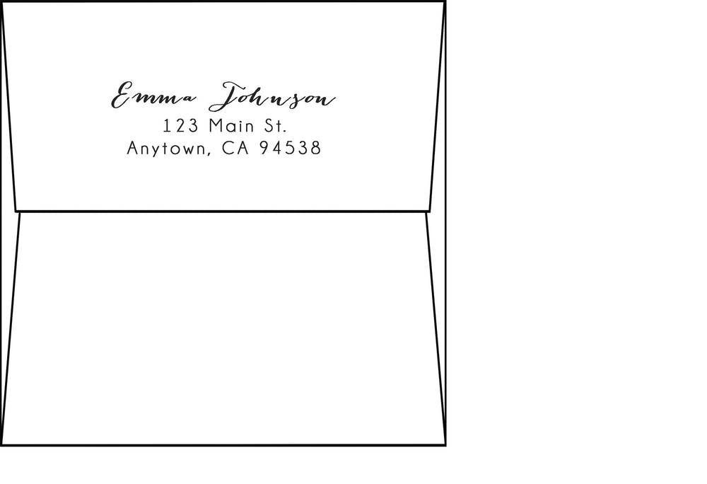 "6"" Square Flap Envelopes - Address Printing"