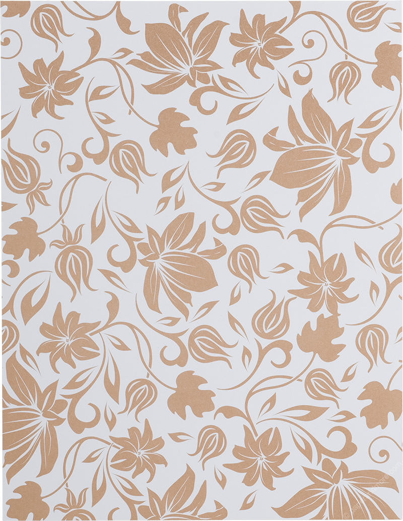 "Brown Spring Bloom on Classic White Solid Paper 80# Text, 8 1/2"" x 11"" - Paperandmore.com"
