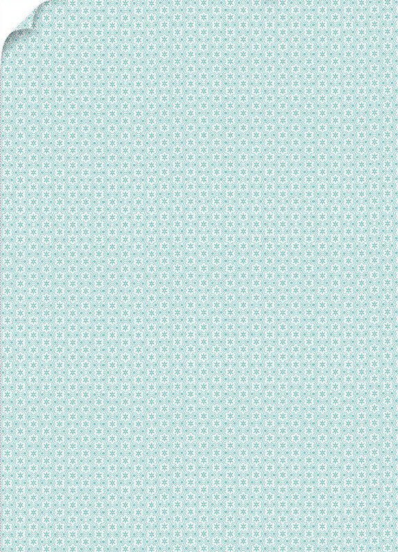 Mod Aqua Patterned Card Stock 80#, 8 1/2