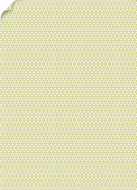"Mod Gold Patterned Card Stock 80#, 8 1/2"" x 11"""