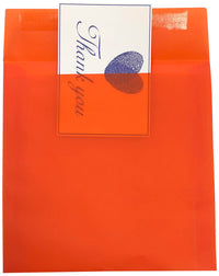 "8"" Square Orange Translucent Vellum Envelopes"