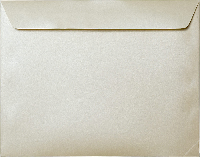 "9"" x 11 1/2"" Booklet Champagne Cream Metallic Envelopes - Paperandmore.com"