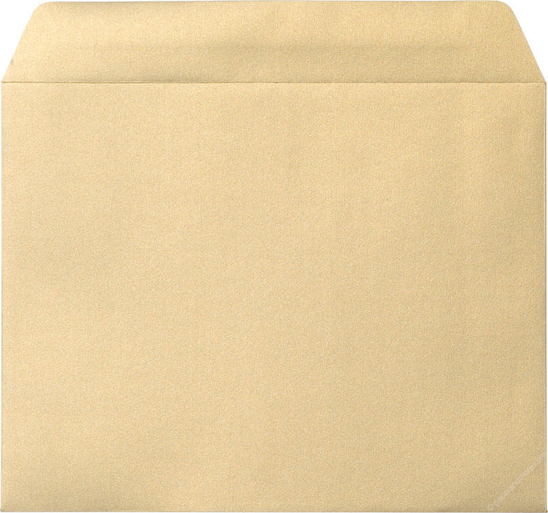 "9"" x 11 1/2"" Booklet Gold Leaf Metallic Envelopes"