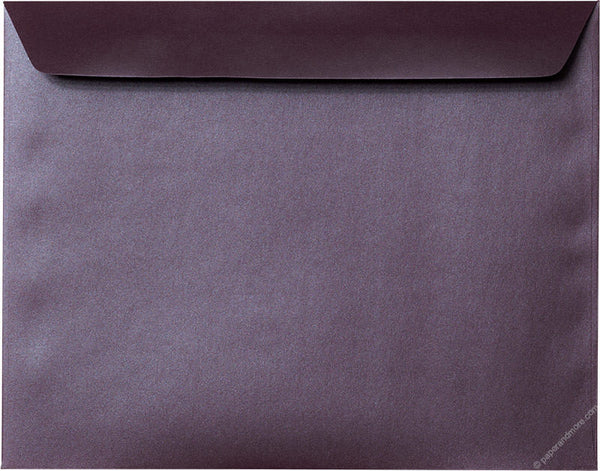 "9"" x 11 1/2"" Booklet Ruby Purple Metallic Envelopes - Paperandmore.com"