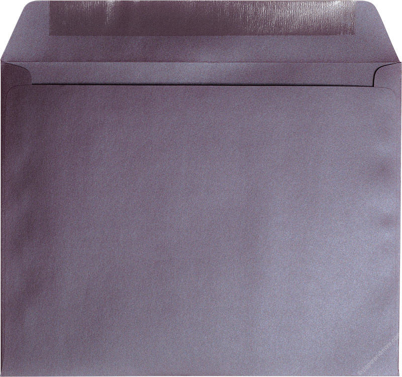 "9"" x 11 1/2"" Booklet Ruby Purple Metallic Envelopes"