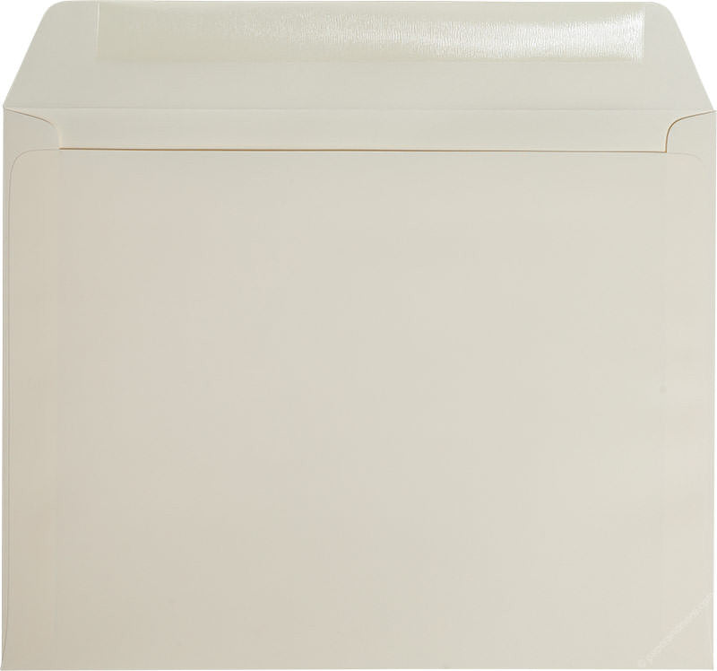 "9"" x 11 1/2"" Booklet Classic Natural Cream Solid Envelopes - Paperandmore.com"