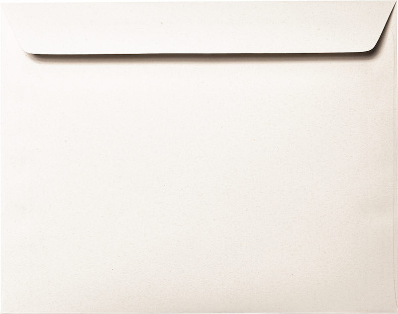 "9"" x 11 1/2"" Booklet White Fiber Recycled Envelopes - Paperandmore.com"